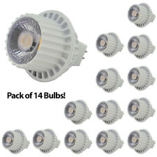 Lot of 14 MR16 12 Volt 8 Watt LED Spot Light Bulb Track Lighting 50W Replacement
