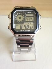 Casio Collection Men's Digital Watch with Stainless Steel Strap  AE-1200WH.