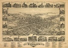 Poster Print Antique American Cities Towns States Map Vineland New Jersey