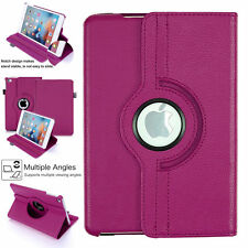 Smart Stand Leather Magnetic Case Cover 360 For Apple iPad Air1 rose gold purple
