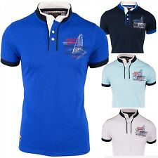 Hombre Polo Camiseta de manga corta cuello alto Watercraft Fit Sport