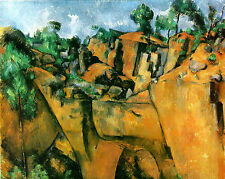Art Photo Print - Bibemus Quarry - Paul Cezanne 1860 1908