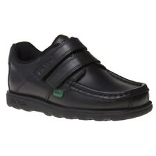 New Infants Kickers Black Fragma Strap Leather Shoes Loafers And Slip Ons