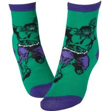 NEW OFFICIAL Marvel Comics Incredible Hulk Classic Retro Crew Trainer Socks