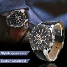 Men Male Watch Wristwatch Quartz Leather Strap Business Casual Supply Gifts