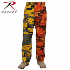 ROTHCO 1830 MENS BDU PANTS CARGO TWO TONE ORANGE CAMOFLAGE YELLOW CAMO XS TO 3X