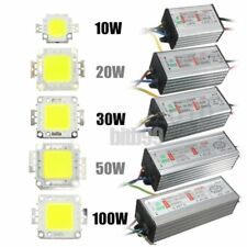 LED SMD Chip Bulb 10W/20W/30W/50W/100W LED Driver Supply High Power WaterproofP#