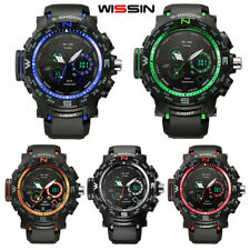 Waterproof LED Sport Wrist Watch Military Army Analog Quartz Digital Alarm Watch