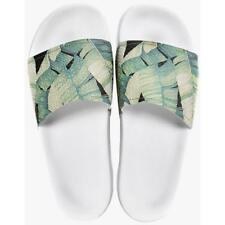 Mens SLYDES Palm Print White Sandals. 8, 10 & 11 available. £19.99.