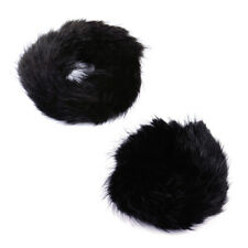 Classic Real Genuine Mink Fur Hair Band Pony Ponytail Holder Tail Accessories