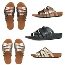 FitFlop Lumy Leather Slide Criss-cross Strappy Sandals