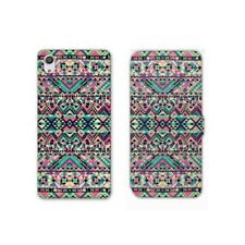 RV Housse cuir portefeuille Sony Xperia XA motifs Aztec azteque