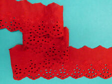 """5 METRES Copper Red Broderie Anglaise Lace Trim 2""""/5cm TOP SELLER Trimming"""
