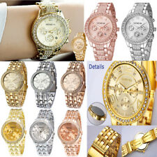 Fashion Luxury Women Stainless Steel  Crystal Analog Quartz Business Wrist Watch