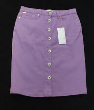 "M&S Per Una Sizes 8 10 12 24 Jean Style Button Front Pencil Skirt 24""L Lilac"