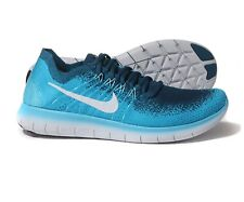 Nike Free RN Flyknit 2017 Running Trainers 880843-400 UK8/9/9.5/11