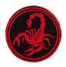 Army Tactical Morale Embroidered Patch Biker Motorcycle Red Scorpio Scorpion