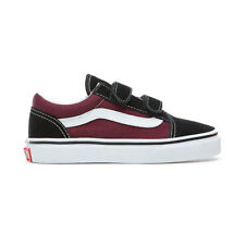 Scarpe Vans Old Skool V Young Black-OG Burgunty