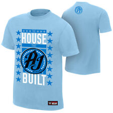 """WWE AJ STYLES """"THE HOUSE THAT AJ BUILT"""" OFFICIAL T-SHIRT ALL SIZES NEW"""