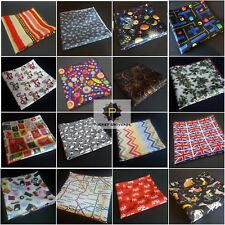 VARIOUS BRIGHT FUN COLOUR NOVELTY POCKET SQUARE HANDKERCHIEF POCKET UNIVERSE  Br