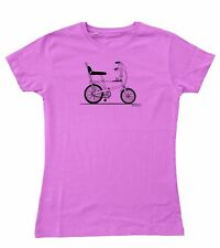 Ladies Original Sketch Raleigh Chopper Bicycle 70s Fitted T-Shirt S - 2XL