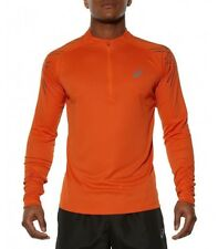 ASICS STRIPE LS 1/2 ZIP NARANJA ESSENTIALS RUNNING MEN