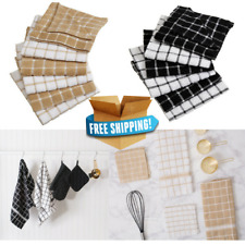 Cotton Dish Towels │Kitchen Towels│Set Of 6 Ultra Absorbent Cotton Dish