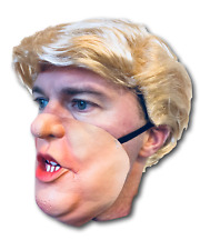 Donald Trump Half Face Mask & Blond Comb Over Candidate Wig US President Costume