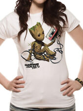 Official Licensed Guardians Of The Galaxy Vol2 Women Fitted T-Shirt S-XXL(White)