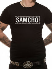 Official Licensed Sons Of Anarchy - Samcro Logo Men's T-Shirt S-XXL (Black)