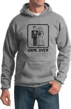 Acquista COOL Camicie Game Over Felpa con cappuccio stampa nera