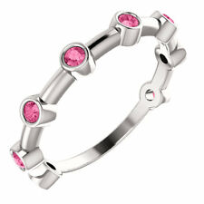 ORIGINALE ROSA TORMALINA CORONA Set barretta Anello in argento sterling