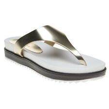 New Womens Calvin Klein Jeans Metallic Ginevra Synthetic Sandals Flats Slip On