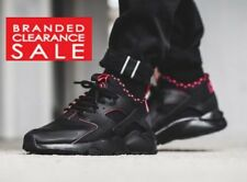 New Men Nike Air Huarache Run Ultra SE Trainer Triple Black red/pink 9 10 11uk