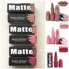 Miss Rose Matte Lipstick Nude Rose Wine 3 Shades To Choose Boxed 🇬🇧 UK Seller