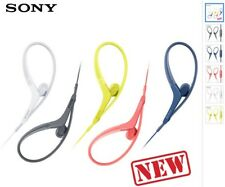 Sony mdr-as410ap rrp £30 high quality sports gym earphones LIME BLACK WHITE NEW