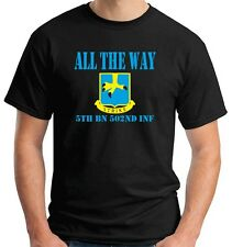T-shirt OLDENG00380 all the way 5th bn 502nd inf white