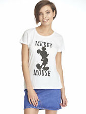 Disney Mickey & Co Mickey Mouse Mujeres Camiseta Blanco
