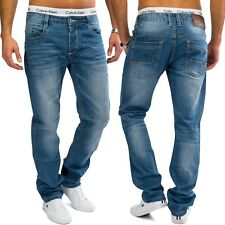 Uomini Regular Fit Jeans Light Blue Denim Straight Leg Straight Leg Comfort Cut