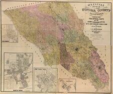 Poster Print Antique American Cities Towns States Map Solano County California