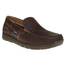 New Mens Chatham Marine Brown Avery Leather Shoes Boat Slip On