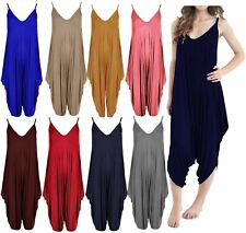 Womens All In One Sleeveless Baggy Romper Harem Summer Beach Jumpsuit Playsuit