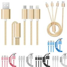3 in 1 Multiple Charging Cable with Type C/8 Pin Lightning/Micro USB Connector