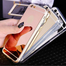 Luxury Ultra Thin Mirror Soft Silicone Gel Case Cover Apple iPhone 8 7 6s 6 Plus