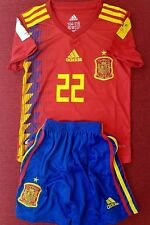 New Adidas Spain Home Kids Kit 2018 World Cup No:22 ISCO Without Tag