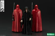 STAR WARS ARTFX+  EMPORER PALPATINE & 2 ROYAL GUARDS STATUE FIGURE 3 PACK SET
