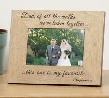 Personalised Dad of all the Walks Of all the dances Photo Frame Father of Bride