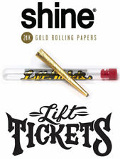Lift Tickets x Shine - 24k Gold Pre Rolled King Size Terpene Infused Cone