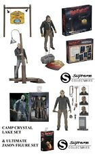 Neca Jason Voorhees Friday the 13th Accessory Set Camp Crystal Lake & Figure Set