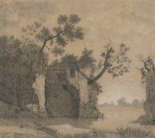 Landscape With Ruins Joseph Wright Derby  Repro Art Photo/Poster Print Satin/Can